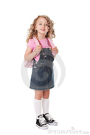 Free Happy School Girl Royalty Free Stock Image - 19815486