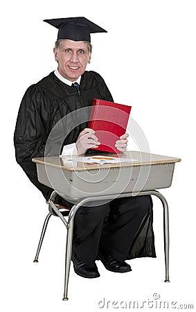 Happy School Teacher or College Professor Isolated
