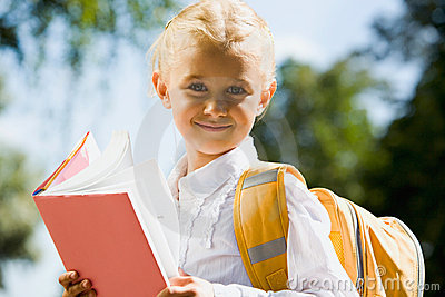 Happy schoolgirl