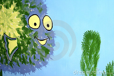 Happy sea monster clipart