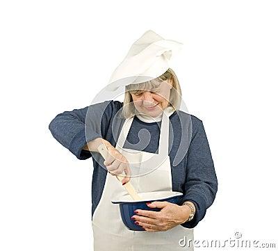 Happy Senior Chef
