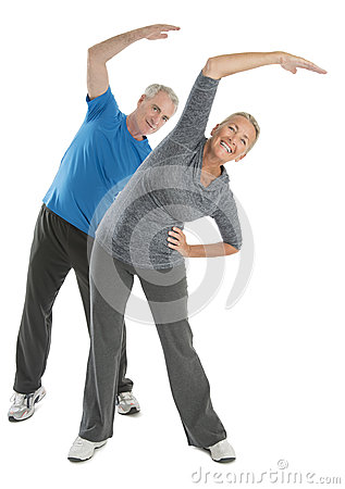 Happy Senior Couple Exercising