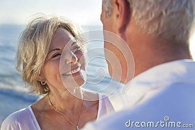 Happy Senior Couple on A Tropical Beach