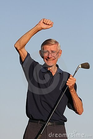 Happy Senior Golfer