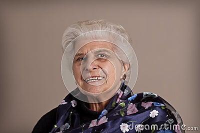 Happy senior lady portrait.