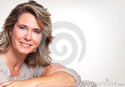 Happy senior woman. Stock Photo