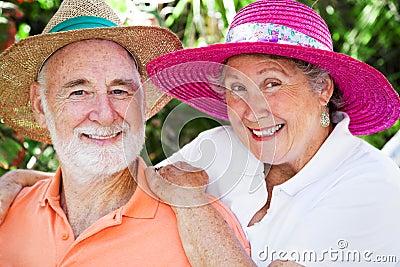 Happy Seniors in Hats