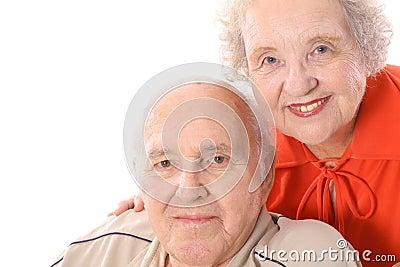 Happy seniors headshot