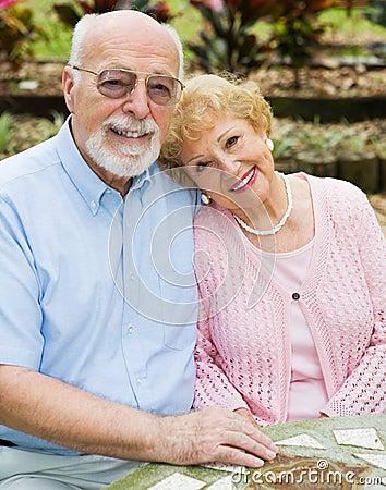 Happy Seniors In Love