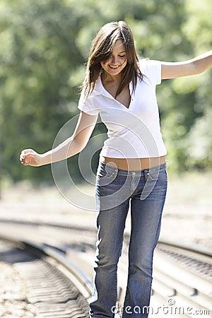 Happy shiny girl
