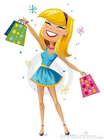 Free Happy Shopper Royalty Free Stock Photos - 13273368