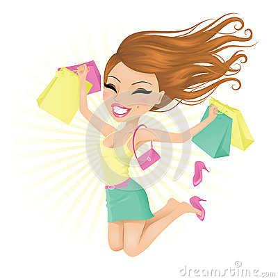 Free Happy Shopper. Stock Photo - 26860760