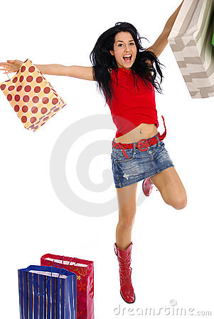 Free Happy Shopping Girl Stock Photography - 2231052