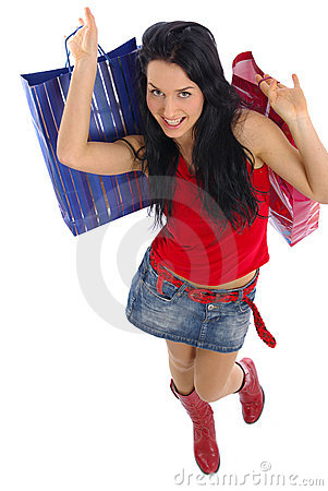 Free Happy Shopping Girl Stock Images - 2231054