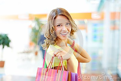 Happy with shopping