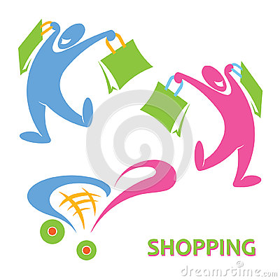 Happy shopping symbol