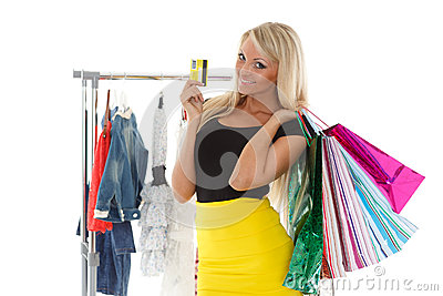 happy shopping royalty free stock photography
