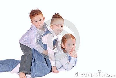 Happy siblings playing