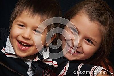 Happy siblings portrait