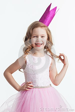 Free Happy Small Princess Girl Royalty Free Stock Images - 100945979