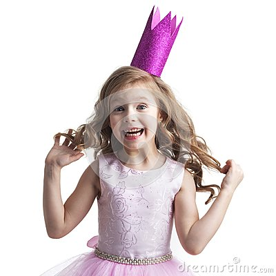 Free Happy Small Princess Girl Stock Images - 99591684