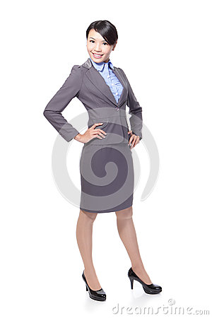 Happy smile business woman
