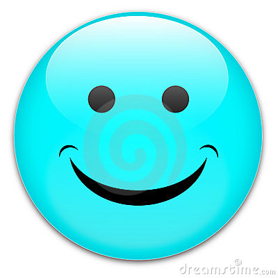 Happy smile button badge
