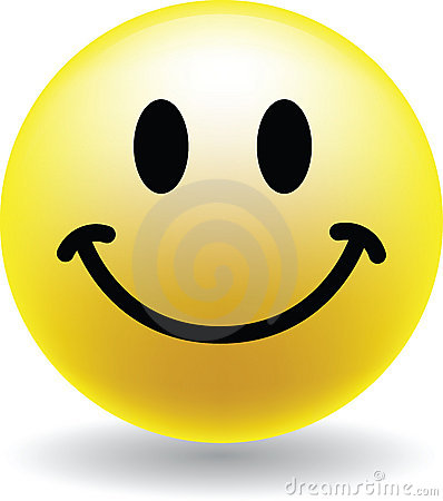 A Happy Smiley Face Button Vector Illustration