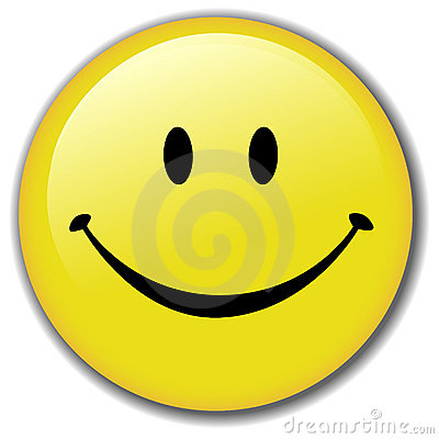 Happy Smiley Face Button Badge Vector Illustration