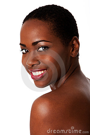 Happy smiling African woman, Beautiful teeth.