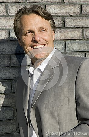 Happy smiling businessman.