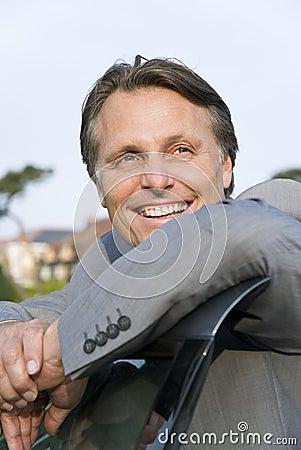 Happy smiling businessman.