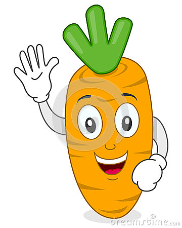 Happy Smiling Carrot Cartoon Character