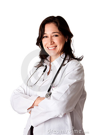 Happy smiling doctor physician