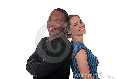 Happy Smiling Friends on White Background