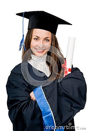Happy smiling graduate girl