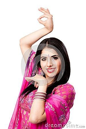 Happy smiling Indian Hindu woman