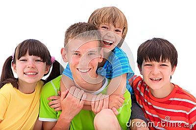 Happy, smiling kids