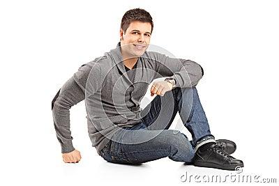 A happy smiling man posing