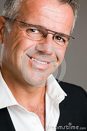 Happy smiling mature man portrait