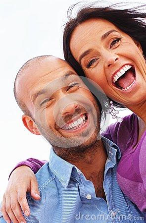 Happy smiling middle-aged couple