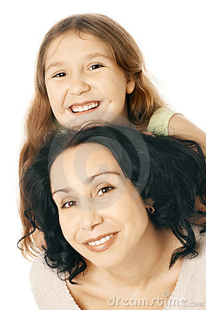 Free Happy Smiling Mother And Daughter Child Stock Photo - 21046360