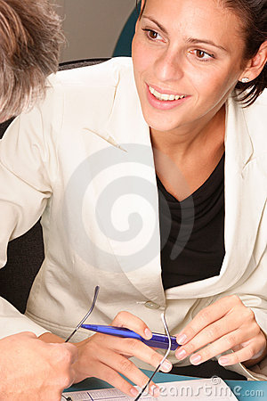 Free Happy,smiling Professional Woman, Talking With Man Stock Images - 985454