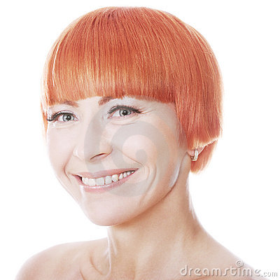 Happy smiling redhead woman