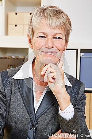 Happy smiling senior business woman