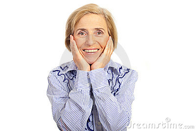 Happy smiling senior woman