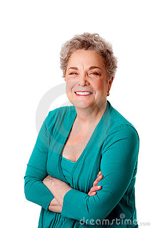 Free Happy Smiling Senior Woman With Arms Crossed Stock Photo - 18664820
