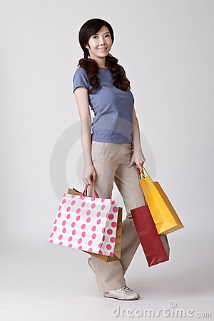 Happy smiling shopper