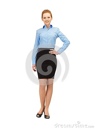 Happy and smiling stewardess