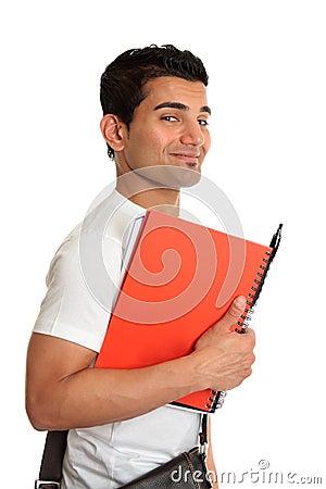 Happy smiling student